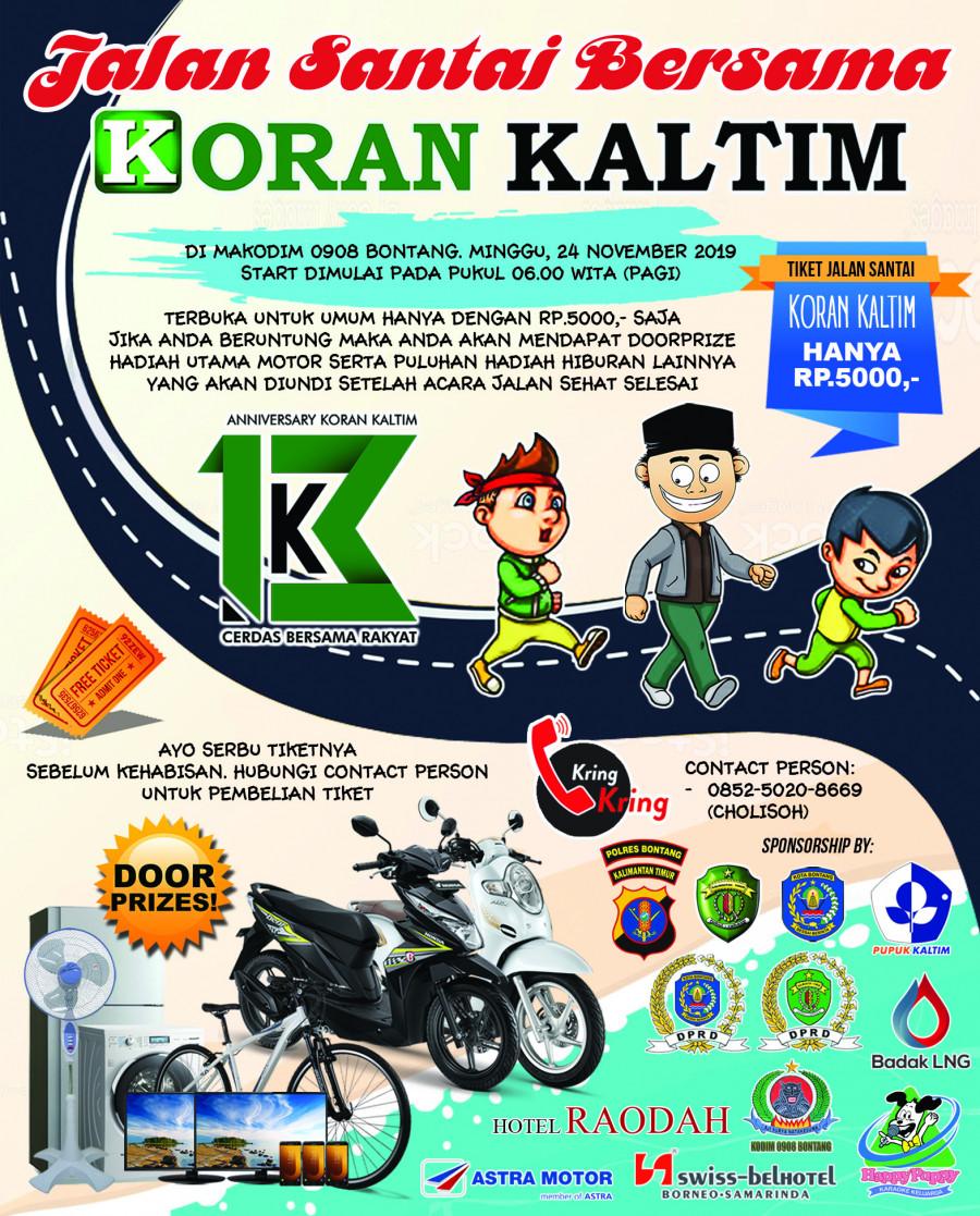 24 November Jalan Sehat HUT Ke 13 Koran Kaltim Di Bontang
